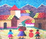 MEDIUM TAPESTRY - CHOLITA AND CHILDREN
