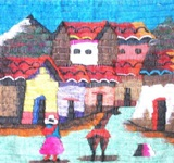 Medium Tapestry - Cholita and Llama
