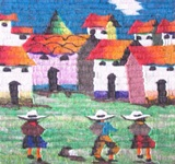 MEDIUM TAPESTRY - 3 NATIVE CHILDREN