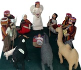Rag Andean Nativity Scene - Big