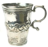 Antique Silver Glass