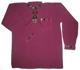 Shirt with awayo details- purple