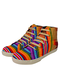 Multicolored sneakers for him and her