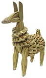Llama made of totora leaf