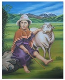 NI�A PASTORA - Shepherdess Little Girl
