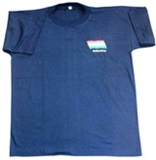 Blue T-shirt with the Bolivian Flag Embroidery