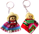 "Two Key Rings ""Andean Couple"""