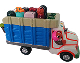 Truck with vegetables