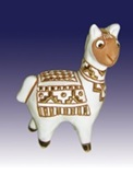 Llama With Golden Details
