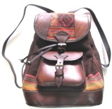 Small Brown Leather Bagpack