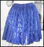 Blue Cholita Skirt