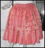 Orange Cholita Skirt