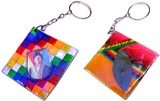 Key chain &#34Wiphala&#34 with Evo image