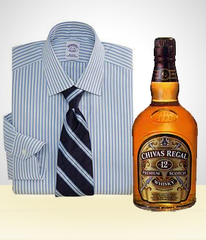 Gifts for Men - A Bottle of Whisky and A Tie