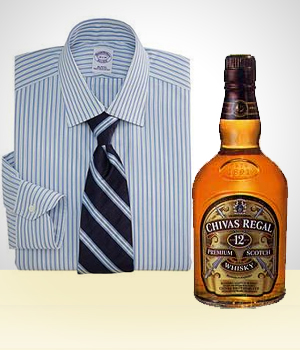 Gifts for Men - Whisky Accompanied by a Shirt