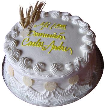 tortas de comunion de crema