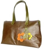 Llama leather handbag &#39&#39Tote Spring&#39&#39 - Brown