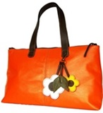 Llama leather handbag &#39&#39Tote Spring&#39&#39 - Orange