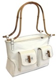 Llama leather purse &#39&#39Bamboo&#39&#39 - White