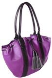 Llama leather purse &#39&#39Classic&#39&#39 - Purple