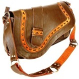 Llama leather handbag   Satchel   - Brown