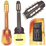Electroacoustic Concert Charango - Kjarkas Model with Inti carving