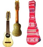 Set: Charango Armadillo Carving + Soft Case