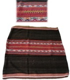 Bolivian Blanket (Frazada) - Tomina - Dark Brown
