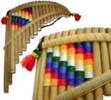 Pan Flute Wiphala - 23 Pipes