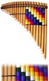 Professional pan flute tuned in Sol - Adjustable tuning