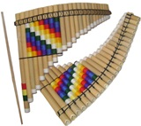 Adjustable Tuning Pan Flute &#39&#39Whipala&#39&#39 - 24 Tubes