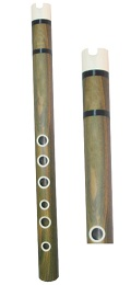 """Aymara"" Guayac�n Quena with Bone Rings and Mouthpiece"