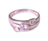 Beautiful 3-Stone CZ Silver Ring