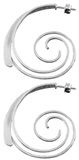 Silver earings   Spiral