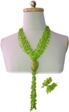 Neacklace & Earings Seed Set - Green