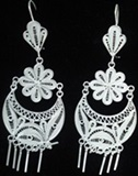 Silver Earrings - Filigree