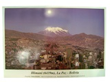 &#34La Paz and the Illimani&#34 Poster