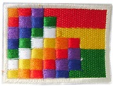 Bolivian flag and Wiphala  patch