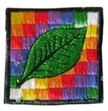 Wiphala and Coca Leaf  Patch