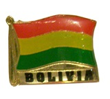 &#34Bolivian flag&#34 pin