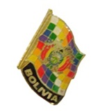 &#34Whipala and Coat of Arms&#34 pin