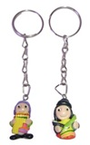 2 Key Chains Andean Cholitos