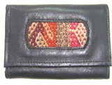 Leather Wallet - Antique Awayo Detail
