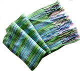 Green Shades Rainbow Alpaca Scarf