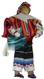 Peasant Doll � red poncho
