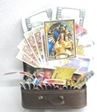 Suitcase with Bolivian and Dollar Bills