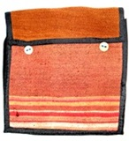 Antique awayo chuspa (red stripes)