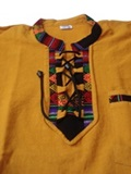Shirt with awayo - yellow
