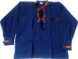 Shirt with awayo - blue