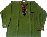 Shirt with awayo - green